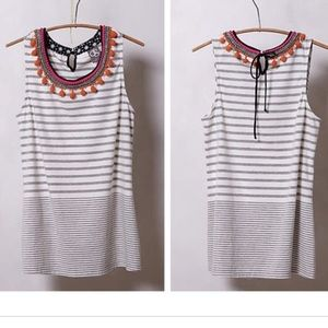 Anthropologie One September Striped Tank Top